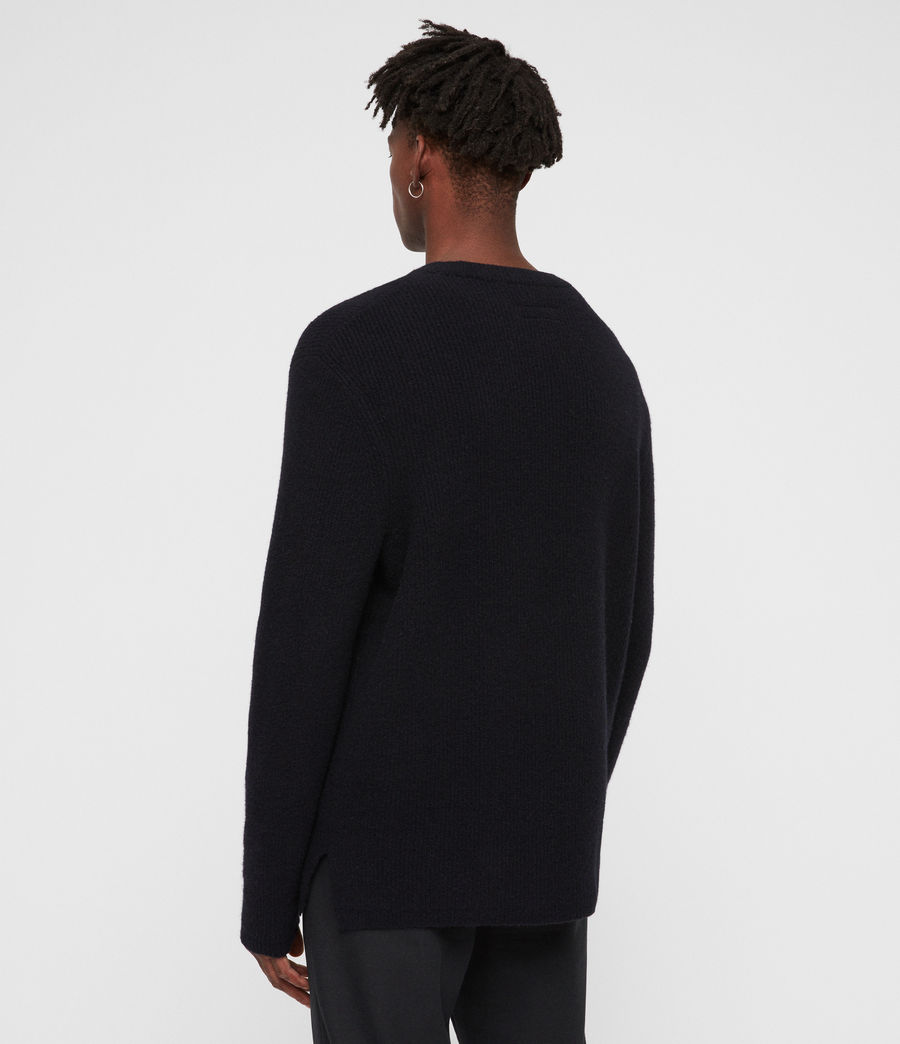 Mens Path Crew Sweater (ink_navy) - Image 5