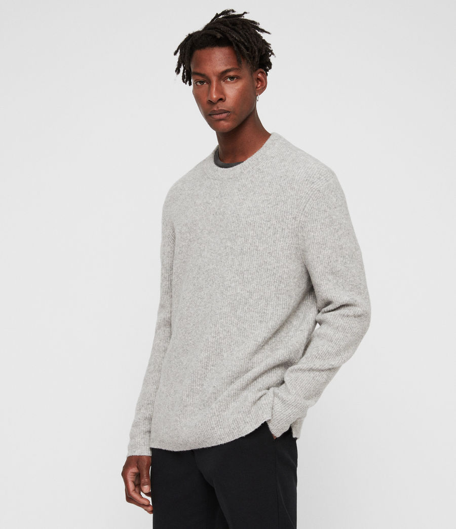 Mens Path Crew Sweater (light_grey_marl) - Image 1