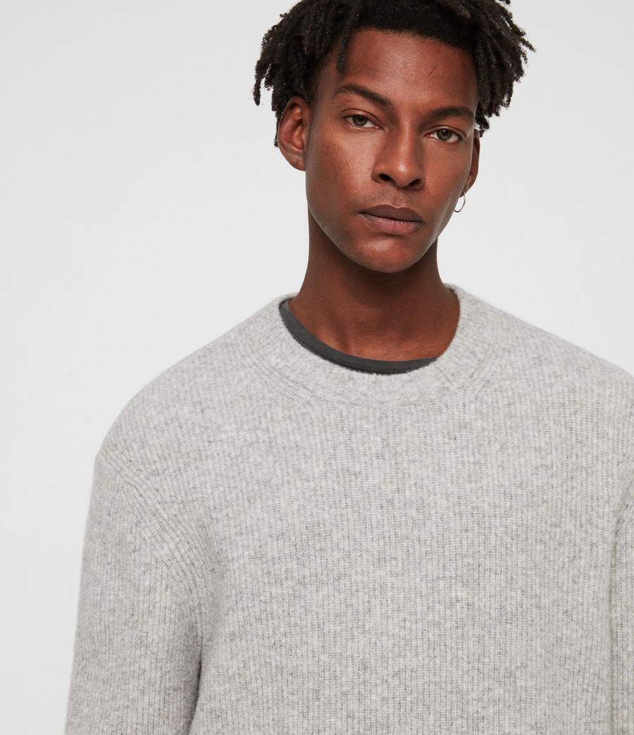 Mens Path Crew Sweater (light_grey_marl) - Image 2