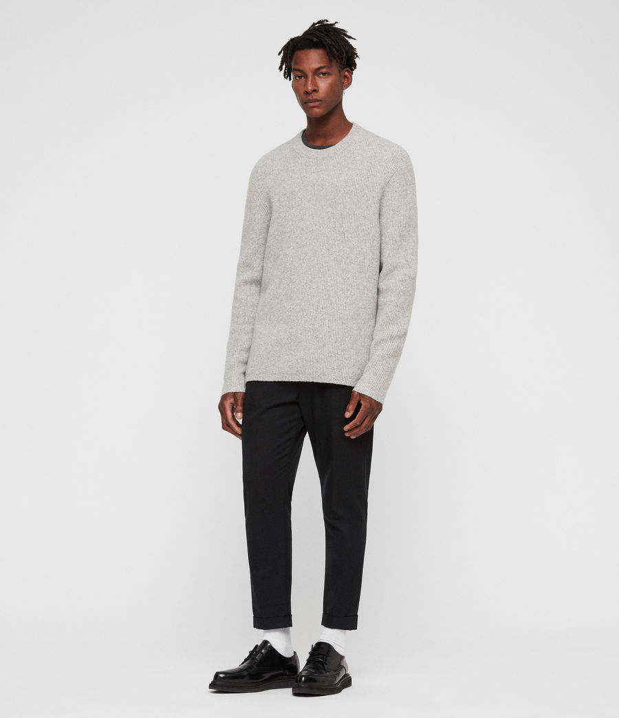 Mens Path Crew Sweater (light_grey_marl) - Image 3