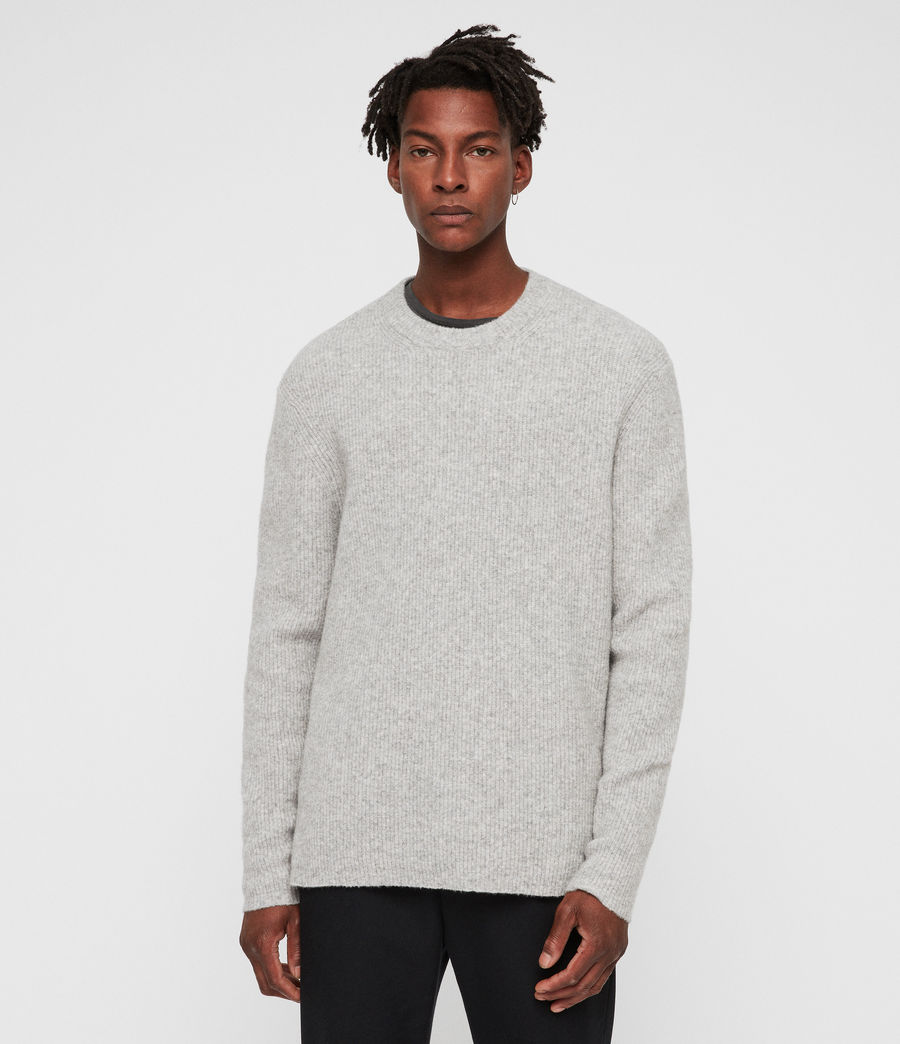 Mens Path Crew Sweater (light_grey_marl) - Image 5