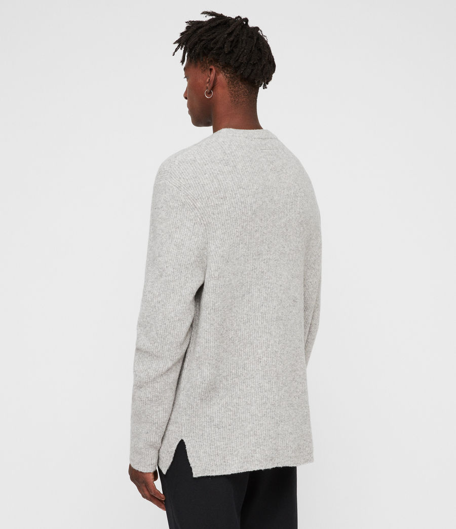 Men's Path Crew Jumper (light_grey_marl) - Image 6