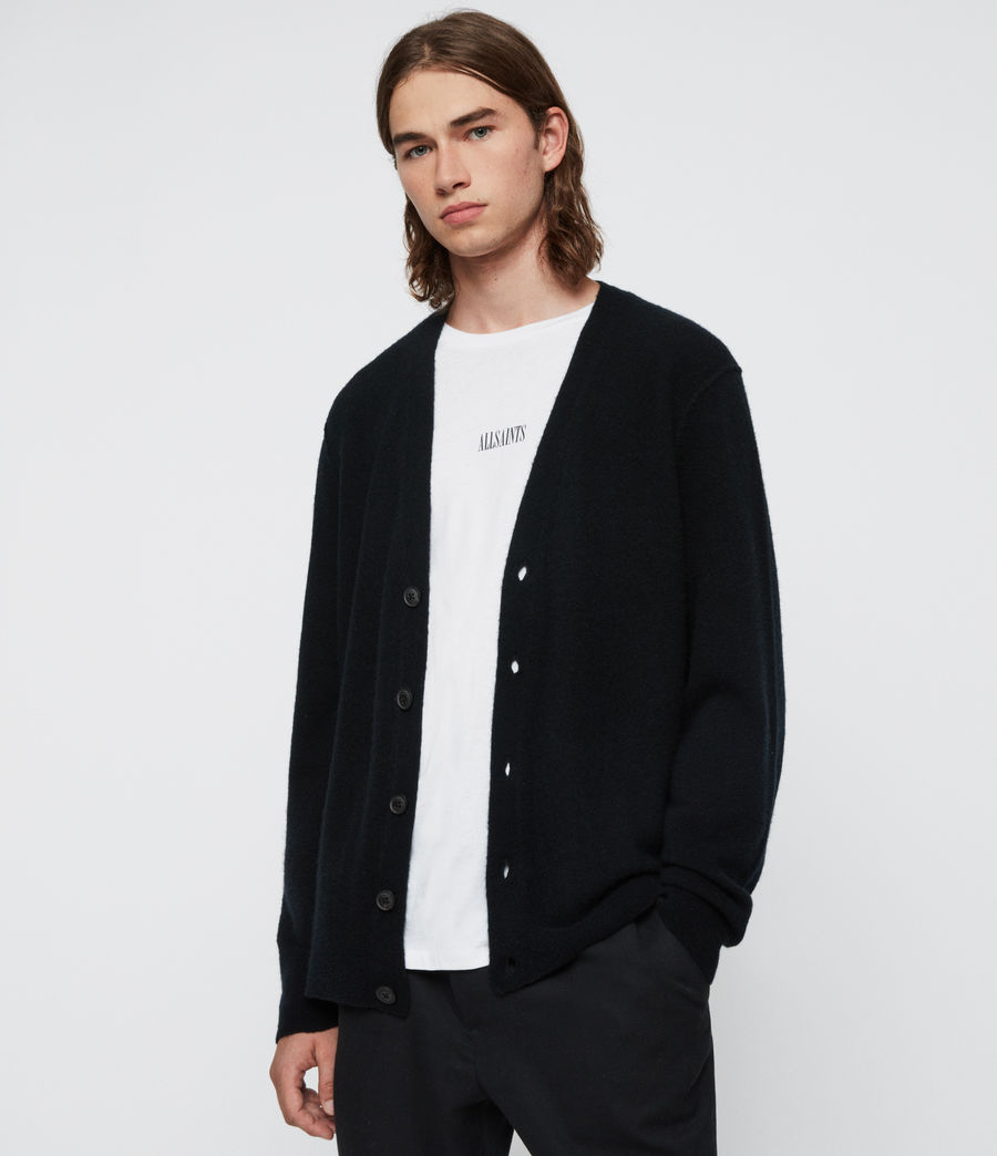 Uomo Cardigan Austell - In lana e cashmere (black) - Image 1