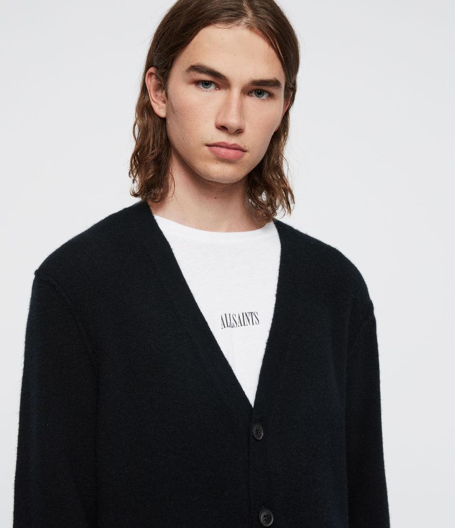 Uomo Cardigan Austell - In lana e cashmere (black) - Image 2