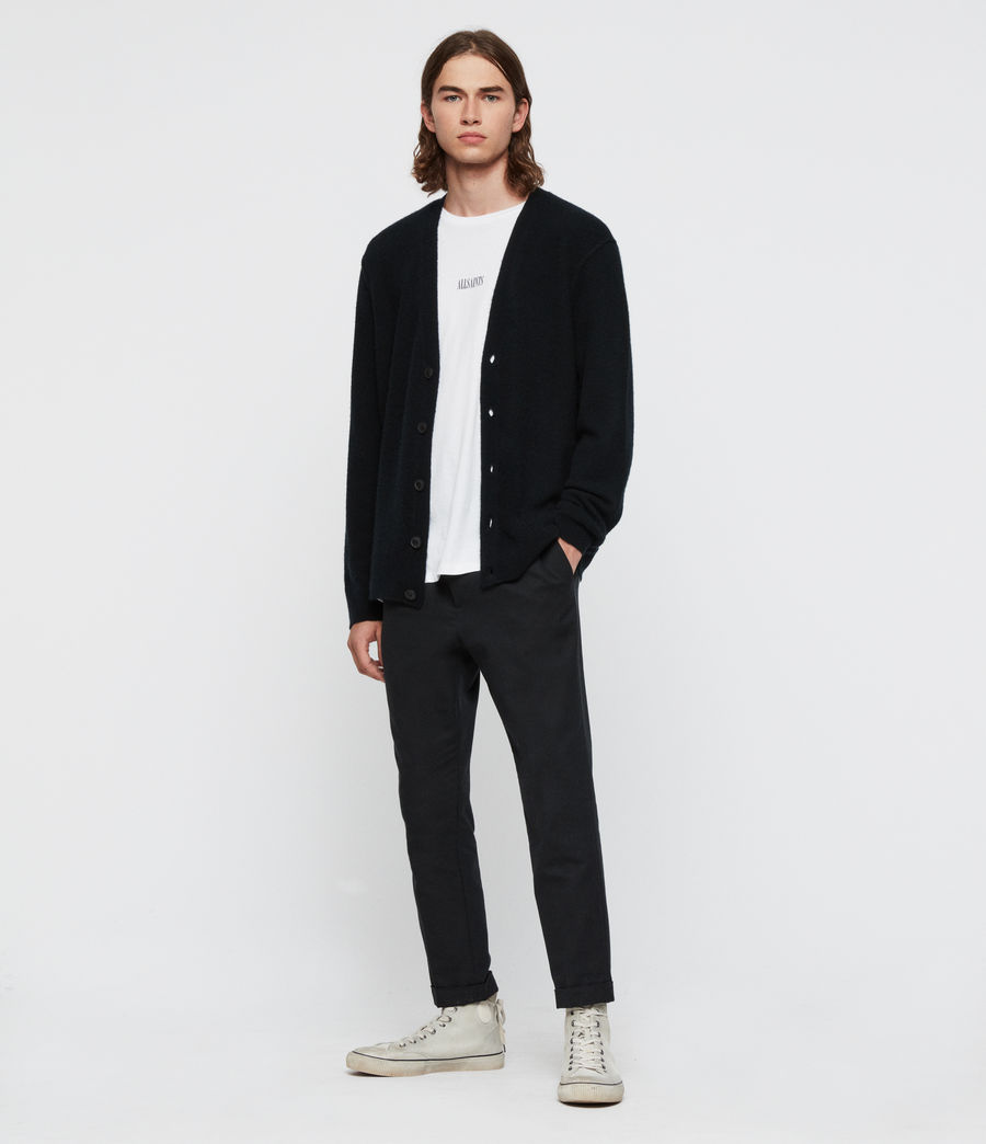 Men's Austell Cashmere Blend Cardigan (black) - Image 3