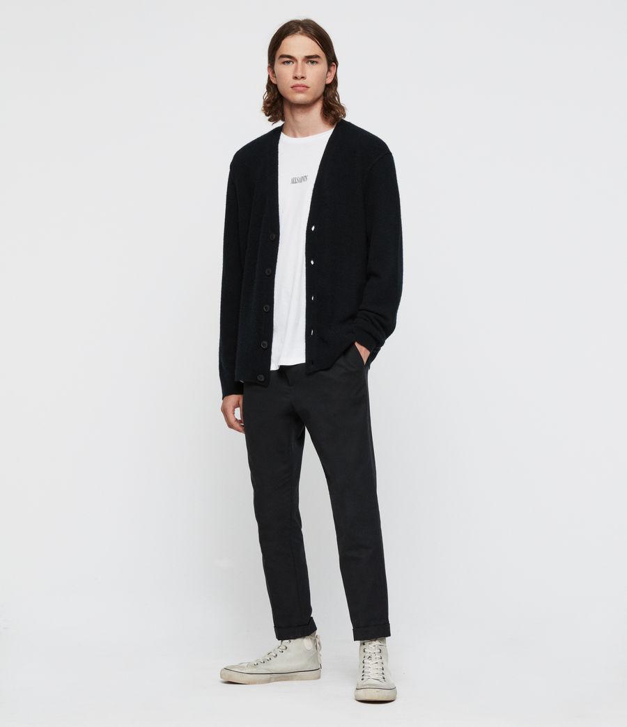 Uomo Cardigan Austell - In lana e cashmere (black) - Image 3