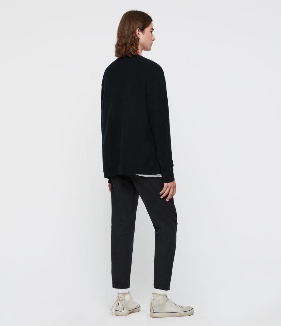 Uomo Cardigan Austell - In lana e cashmere (black) - Image 5