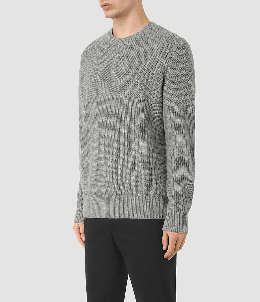 Men's Karnett Crew Jumper (grey_marl) - Image 2