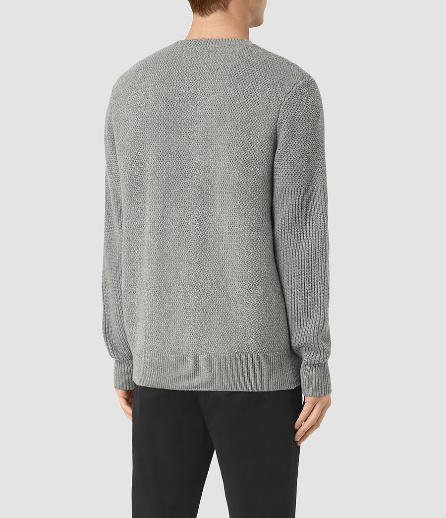 Men's Karnett Crew Jumper (grey_marl) - Image 4