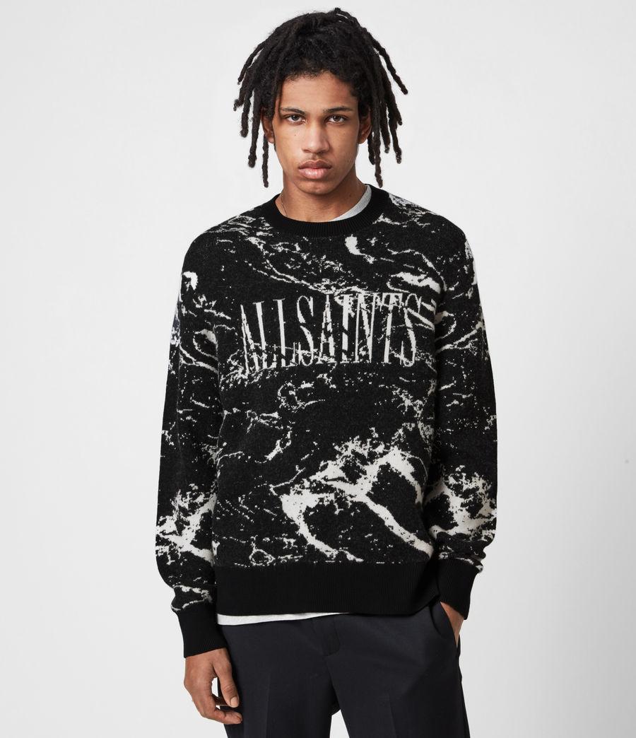 Mens Marble Saints Crew Sweater (black) - Image 1