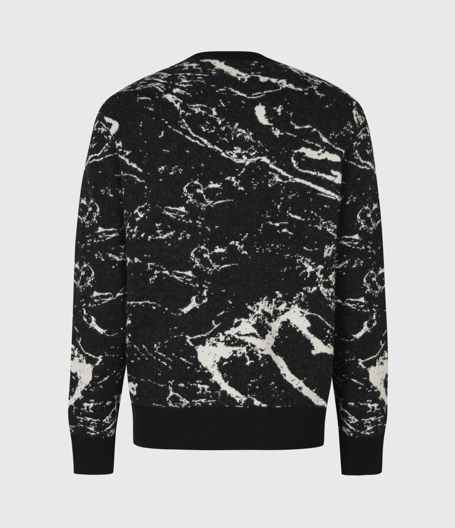 Mens Marble Saints Crew Sweater (black) - Image 3