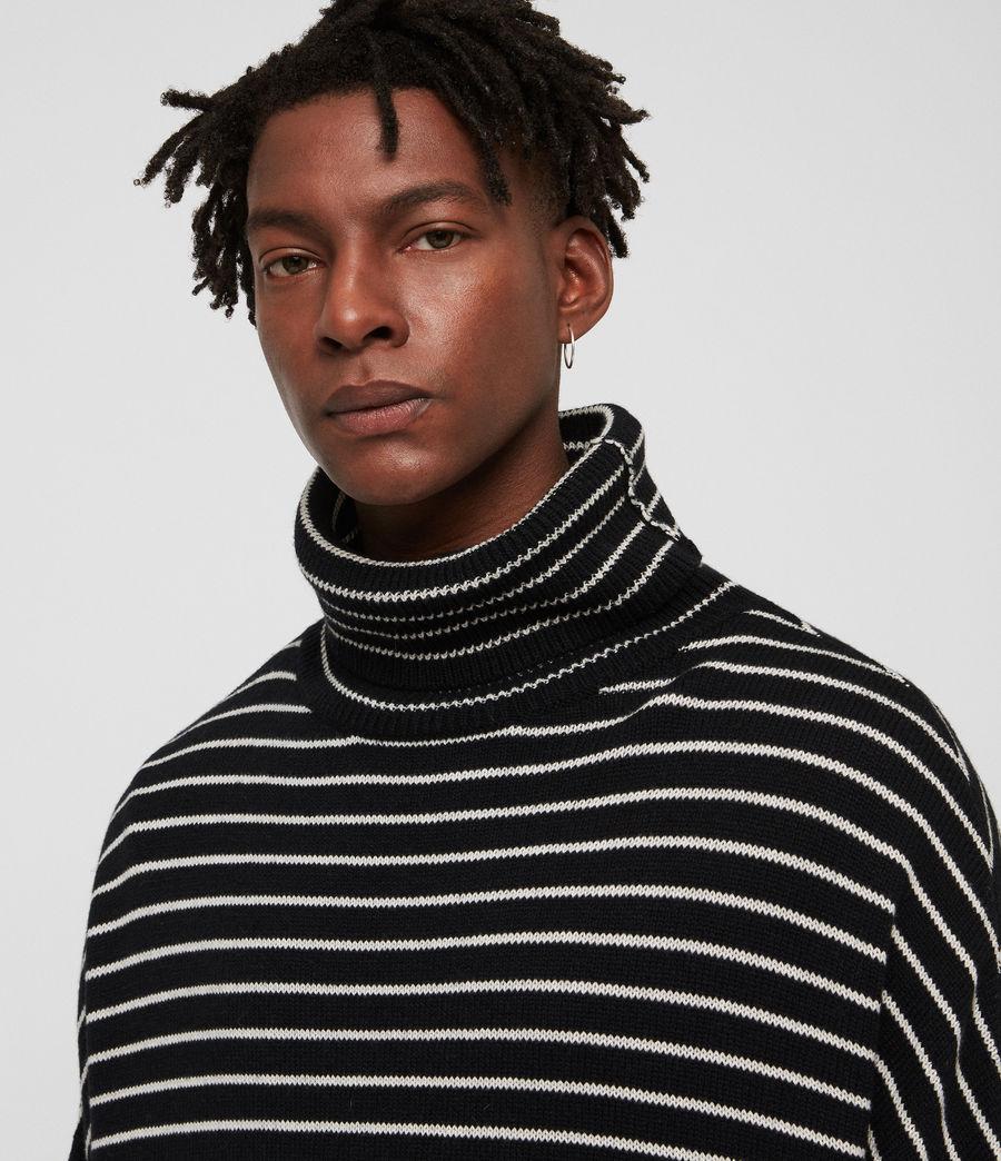 Hombres Jersey de Cuello Alto Marty (black_ecru_white) - Image 2