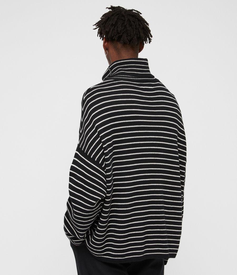 Hombres Jersey de Cuello Alto Marty (black_ecru_white) - Image 5