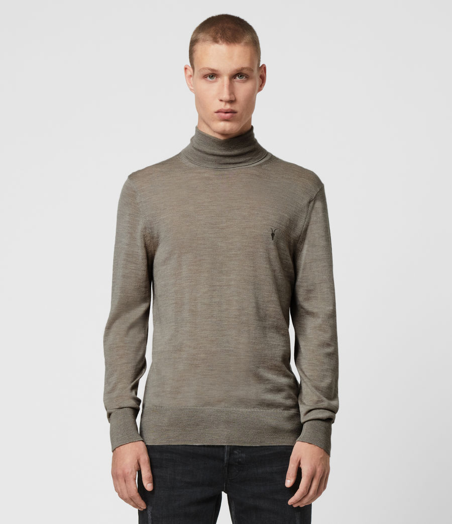 Hombres Jersey Mode Merino (grey_marl) - Image 1