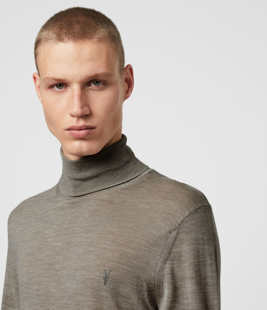 Hombres Jersey Mode Merino (grey_marl) - Image 2