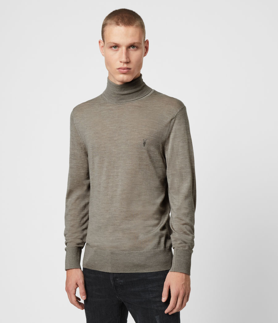 Hombres Jersey Mode Merino (grey_marl) - Image 3