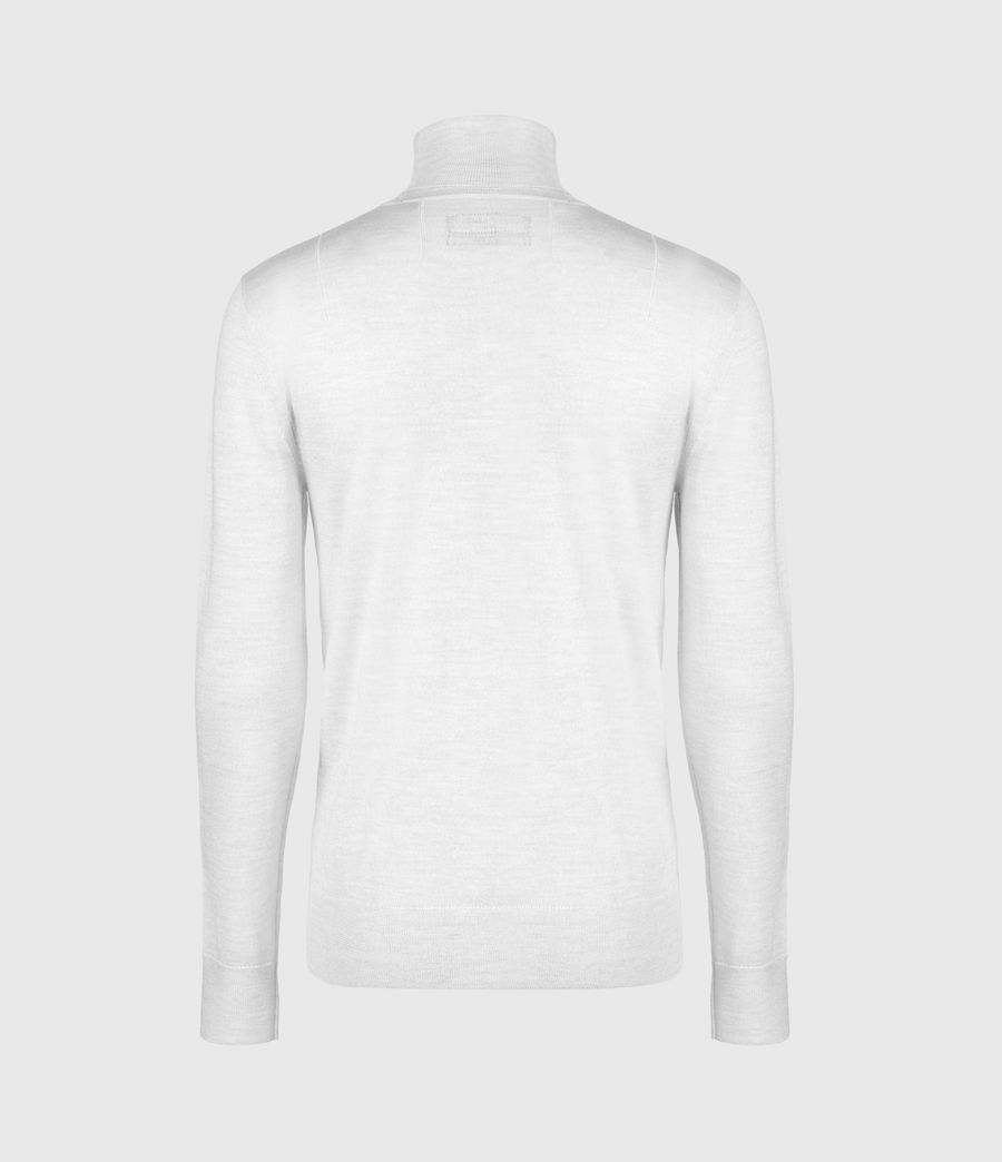 Men's Mode Merino Roll Neck Jumper (fog_grey_marl) - Image 3