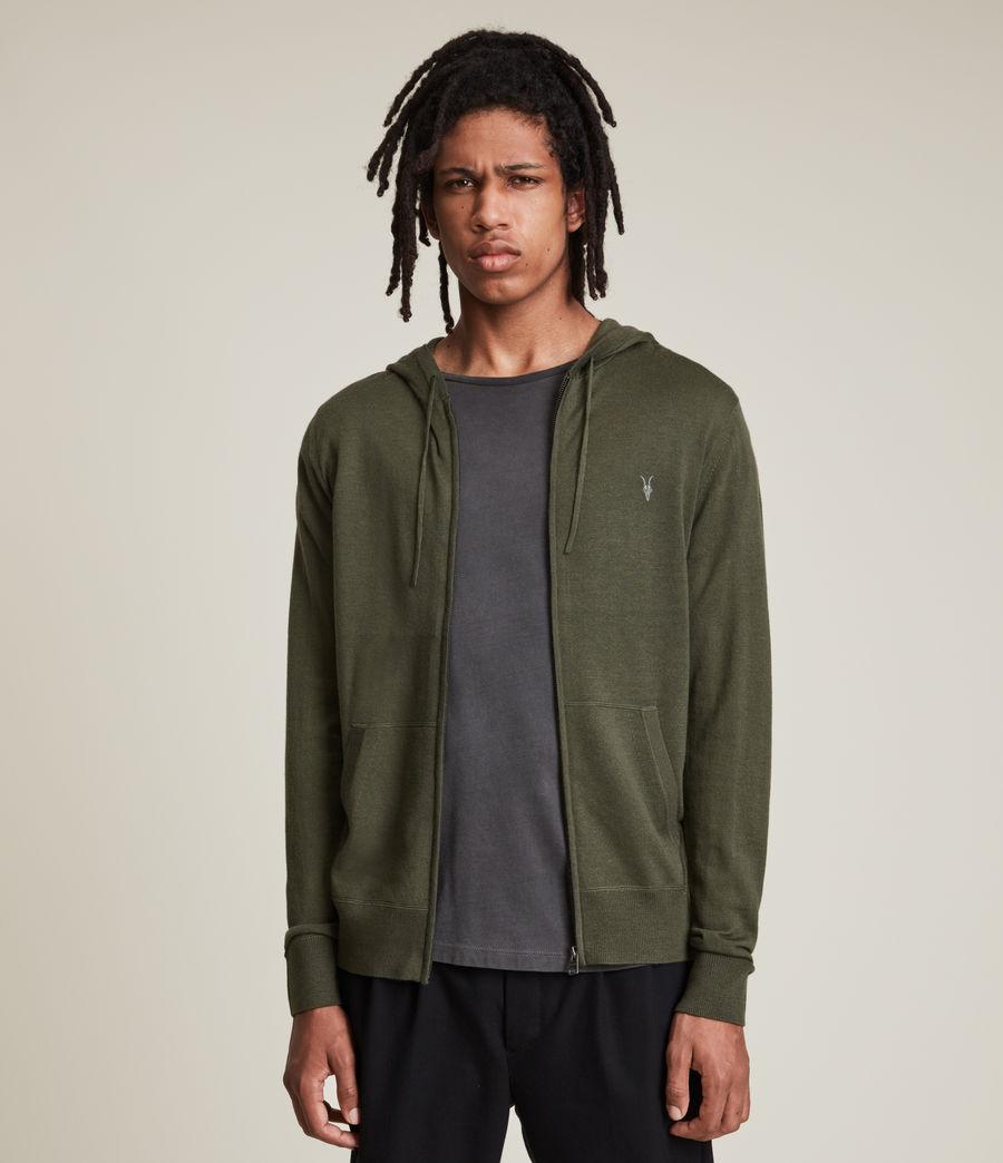 Herren Mode Merino Zip Hoodie (marsh_green) - Image 1