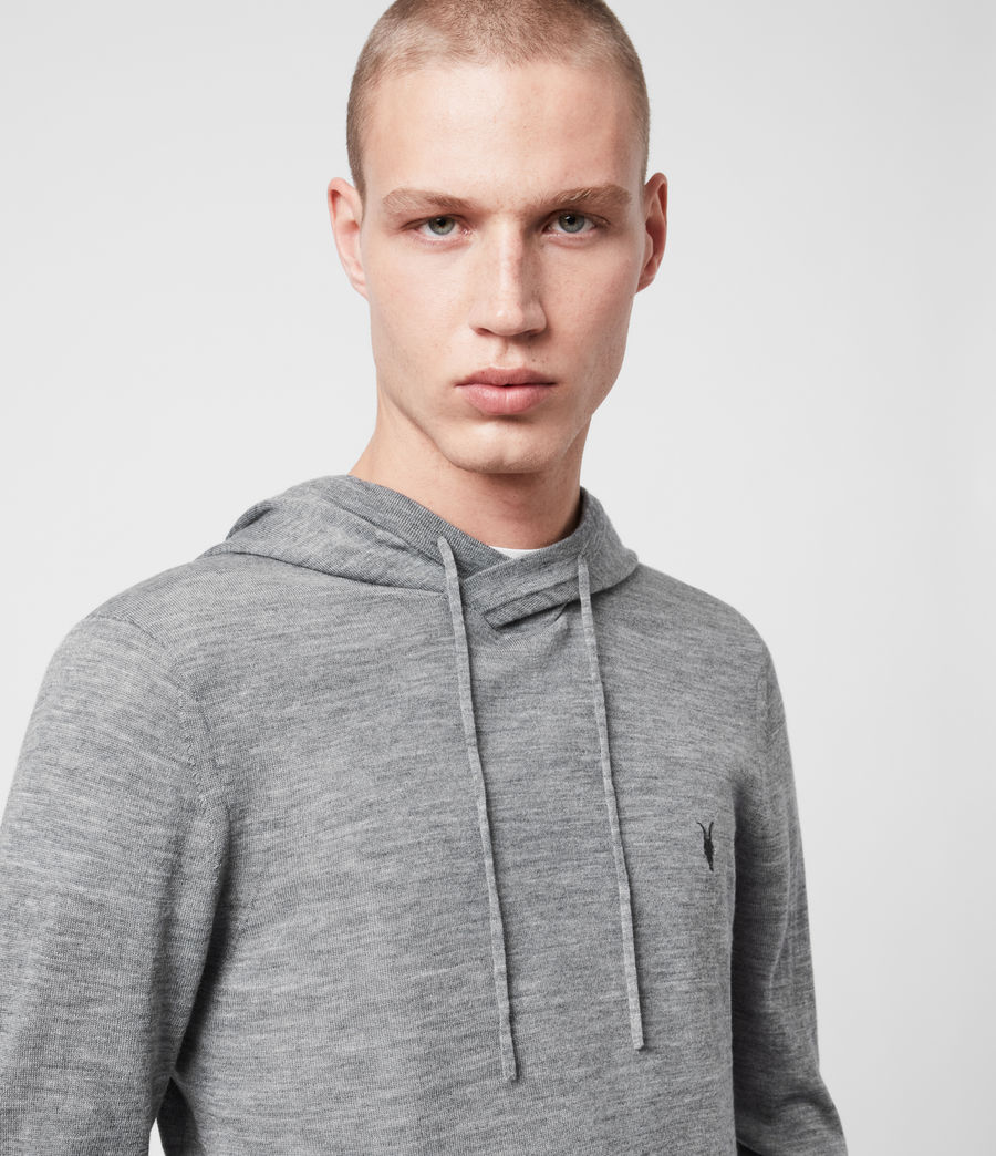 Men's Mode Merino Hoodie (vista_red_marl) - Image 2