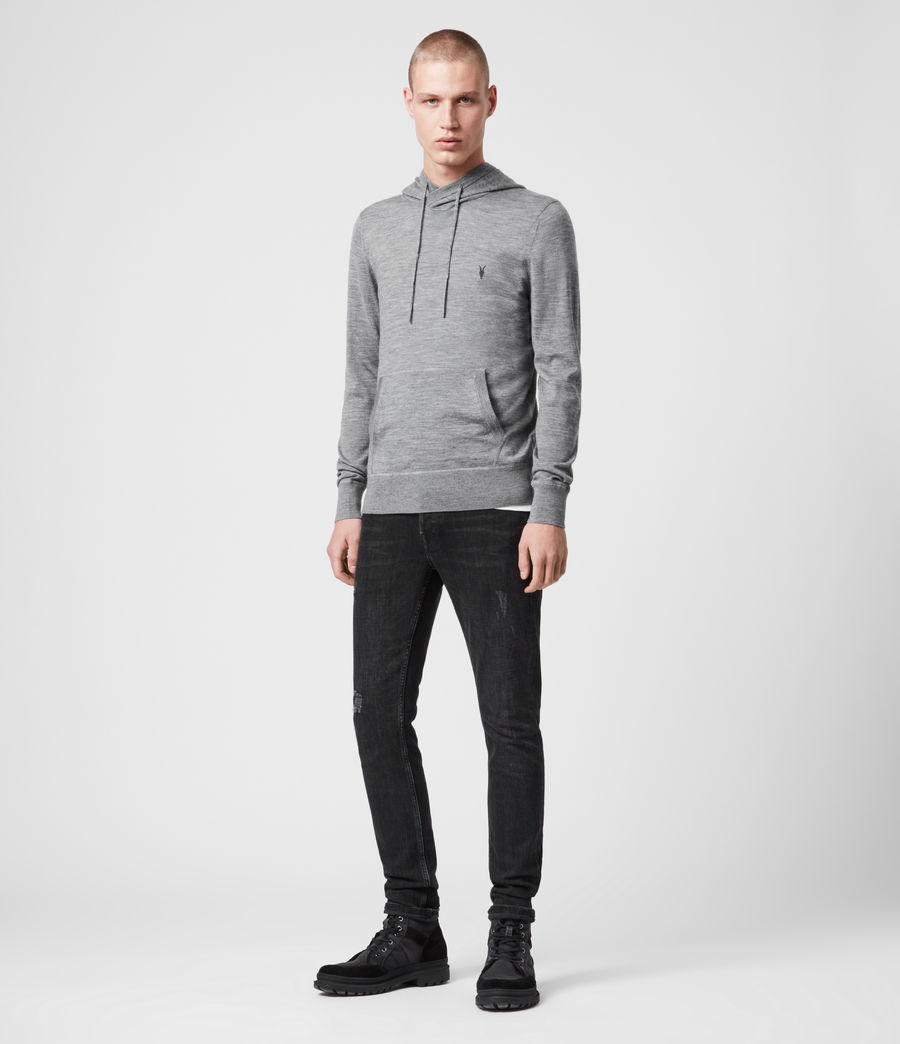 Men's Mode Merino Hoodie (vista_red_marl) - Image 3