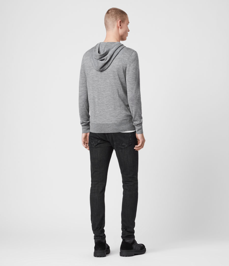 Men's Mode Merino Hoody (grey_marl) - Image 4