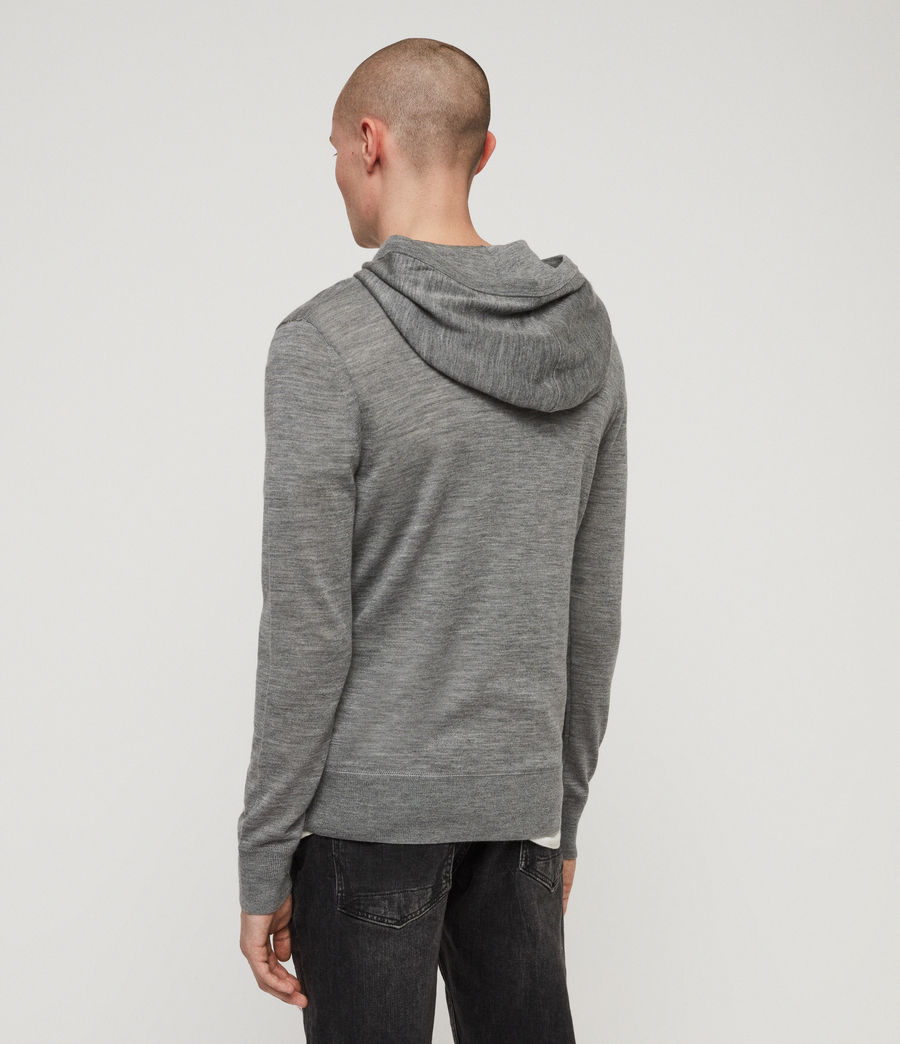 Men's Mode Merino Hoodie (vista_red_marl) - Image 5