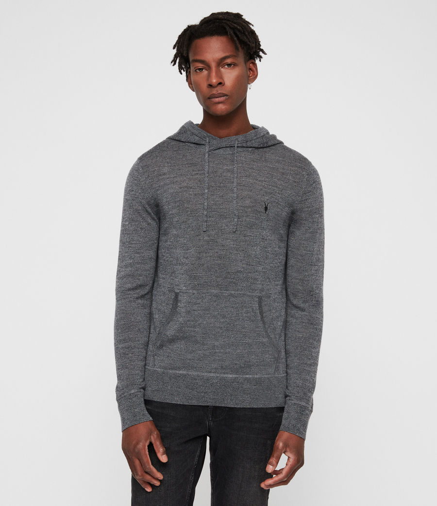 Hombre Mode Merino Hoodie (charcoal_mouline) - Image 1