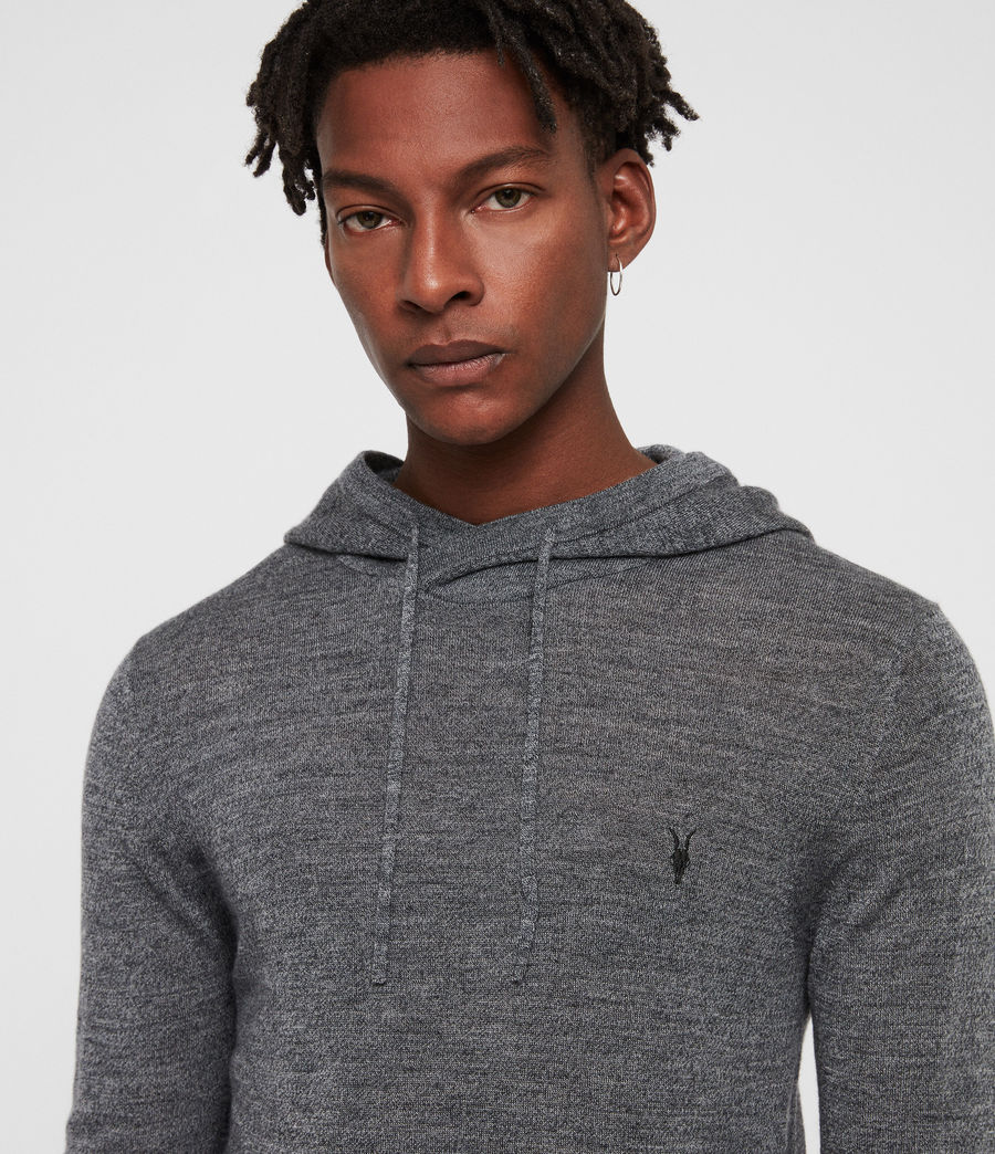 Hombre Mode Merino Hoodie (charcoal_mouline) - Image 2