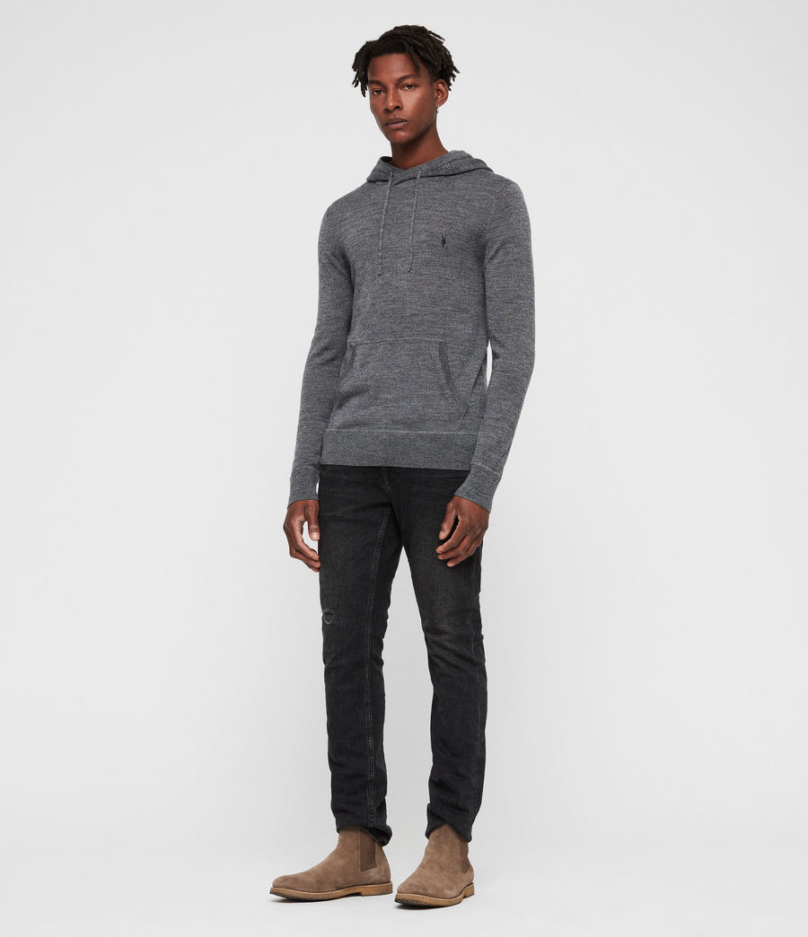 Hombre Mode Merino Hoodie (charcoal_mouline) - Image 3