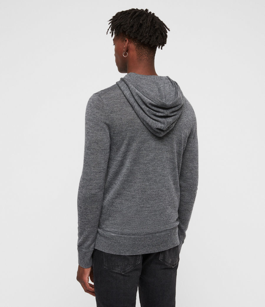 Hombre Mode Merino Hoodie (charcoal_mouline) - Image 4