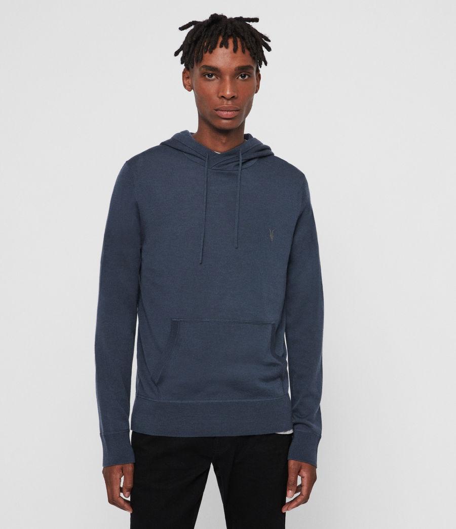 Men's Mode Merino Hoodie (pier_blue) - Image 1