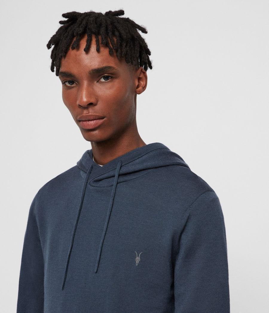 Mens Mode Merino Hoodie (pier_blue) - Image 2