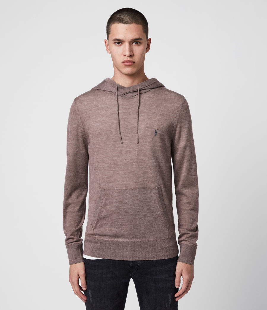 Men's Mode Merino Hoodie (heather_pink_marl) - Image 1