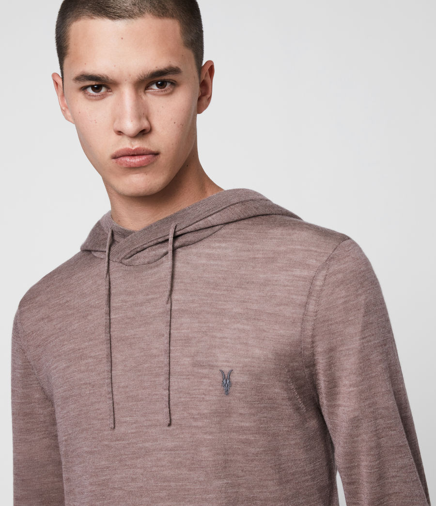 Men's Mode Merino Hoodie (heather_pink_marl) - Image 2