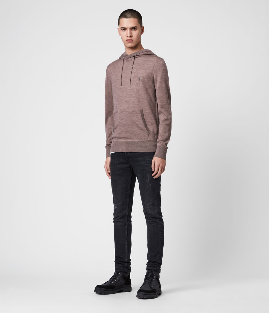 Men's Mode Merino Hoodie (heather_pink_marl) - Image 3