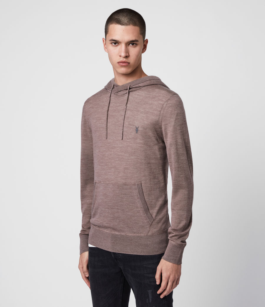 Men's Mode Merino Hoodie (heather_pink_marl) - Image 4