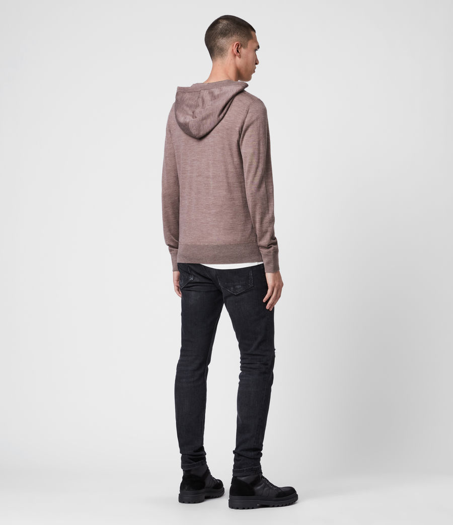 Men's Mode Merino Hoodie (heather_pink_marl) - Image 5