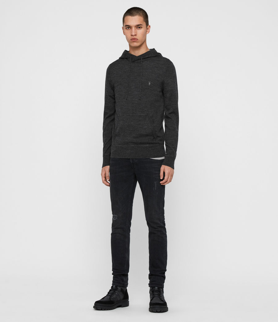 Men's Mode Merino Pullover Hoodie (black) - Image 3