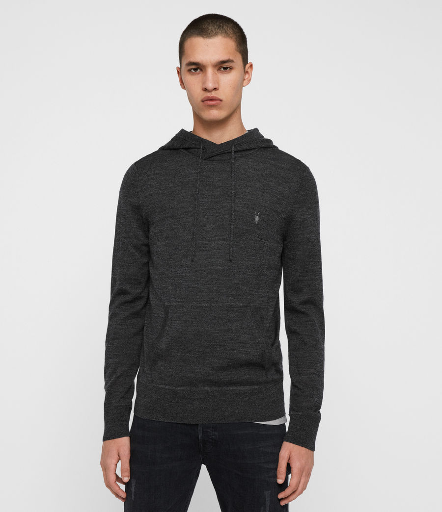 Men's Mode Merino Pullover Hoodie (black) - Image 4