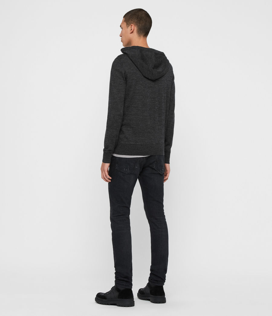 Men's Mode Merino Pullover Hoodie (black) - Image 5