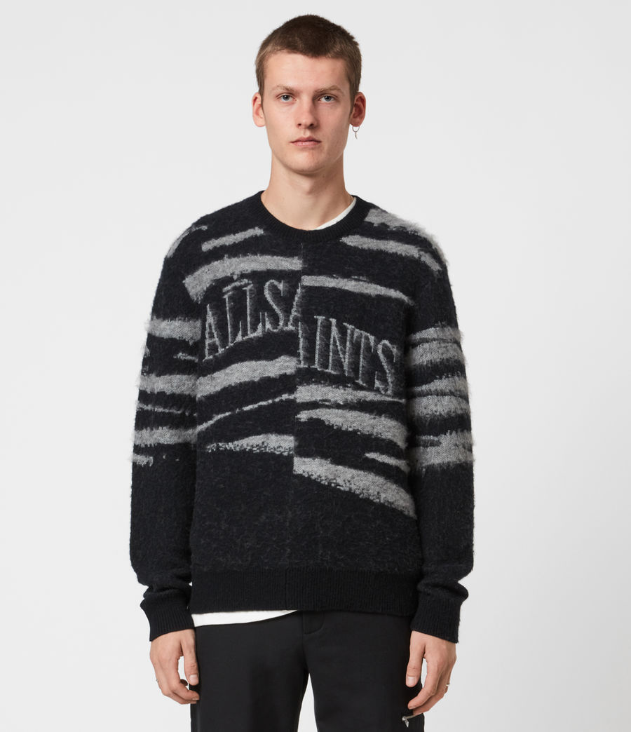 Mens Ture Saints Crew Sweater (black) - Image 1