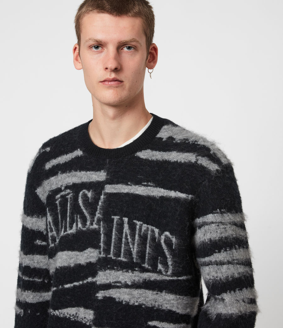 Men's Ture Saints Crew Jumper (black) - Image 4