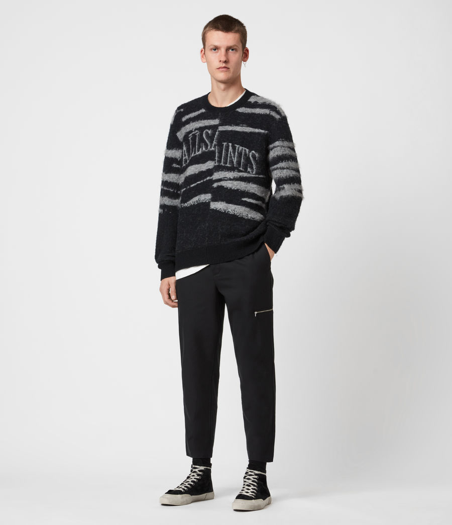 Men's Ture Saints Crew Jumper (black) - Image 7