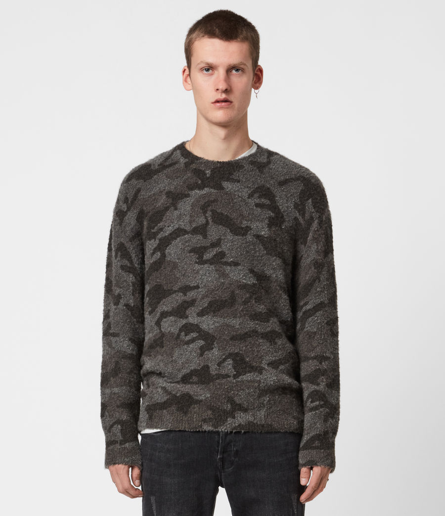 Mens Stealth Crew Sweater (charcoal_grey_marl) - Image 1