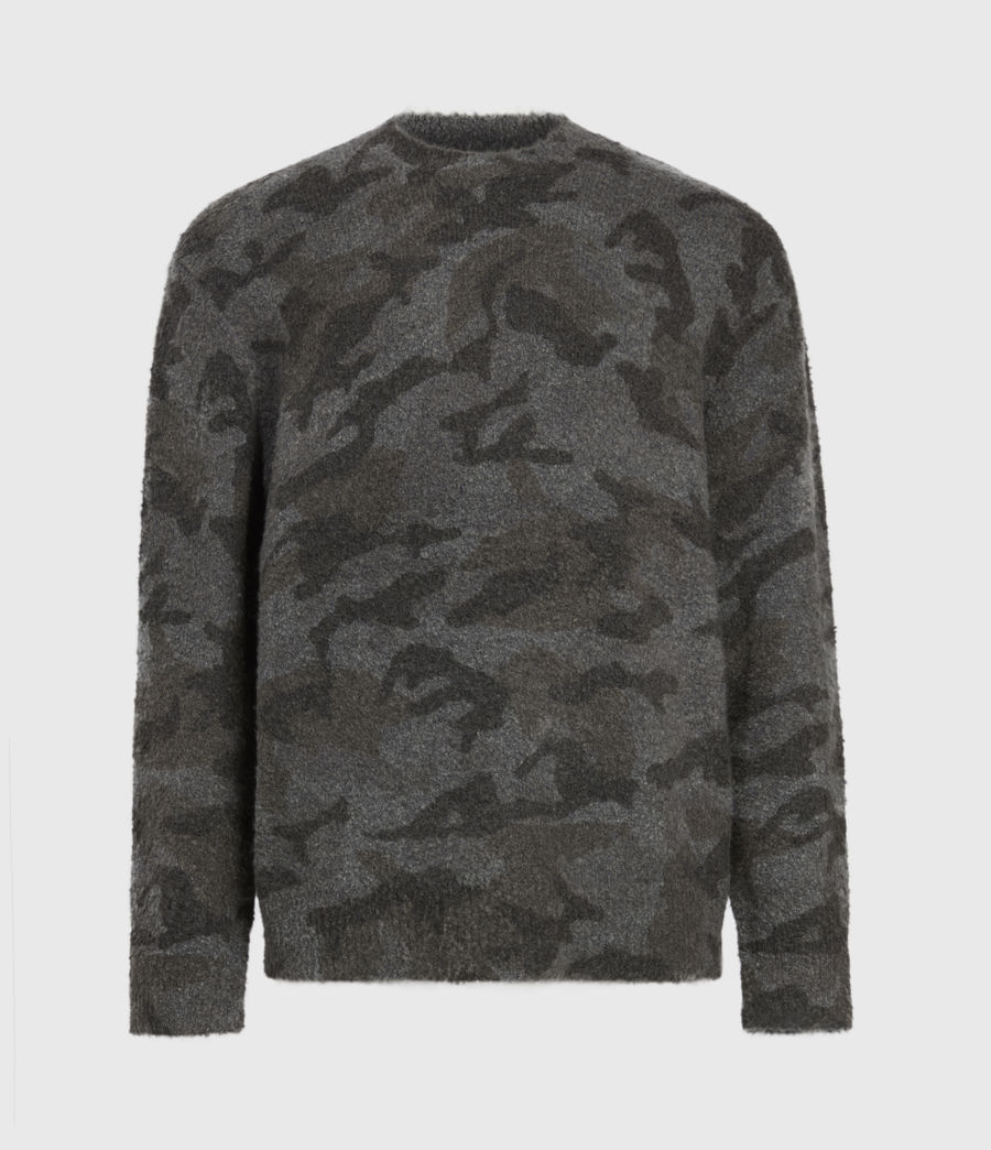 Mens Stealth Crew Sweater (charcoal_grey_marl) - Image 2