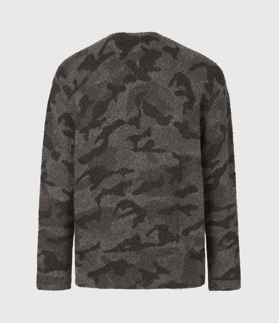 Mens Stealth Crew Sweater (charcoal_grey_marl) - Image 3