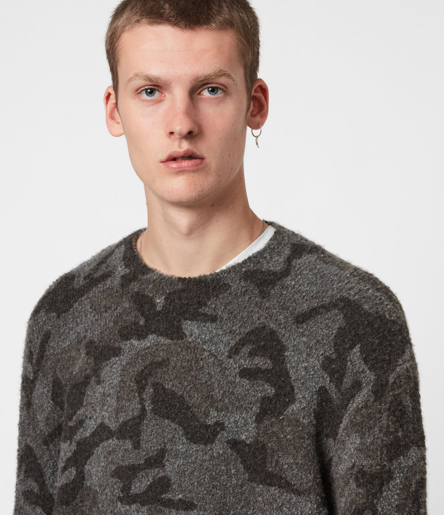 Mens Stealth Crew Sweater (charcoal_grey_marl) - Image 4