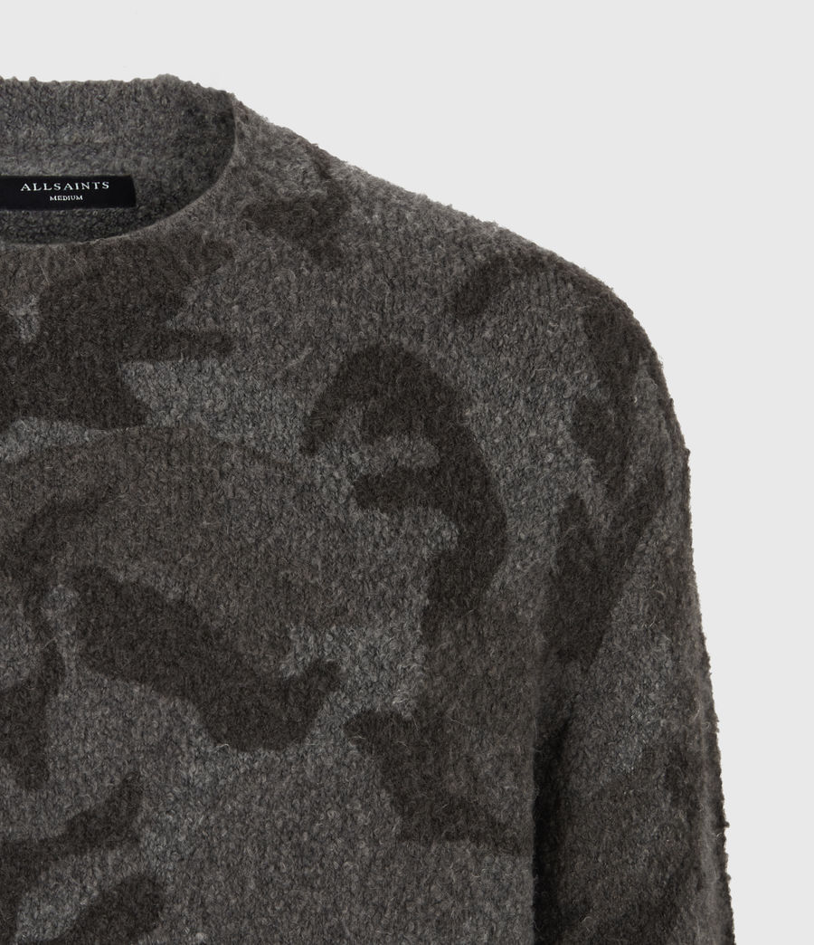 Mens Stealth Crew Sweater (charcoal_grey_marl) - Image 5