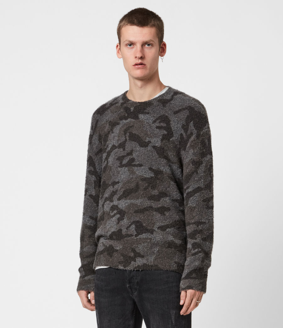 Mens Stealth Crew Sweater (charcoal_grey_marl) - Image 6