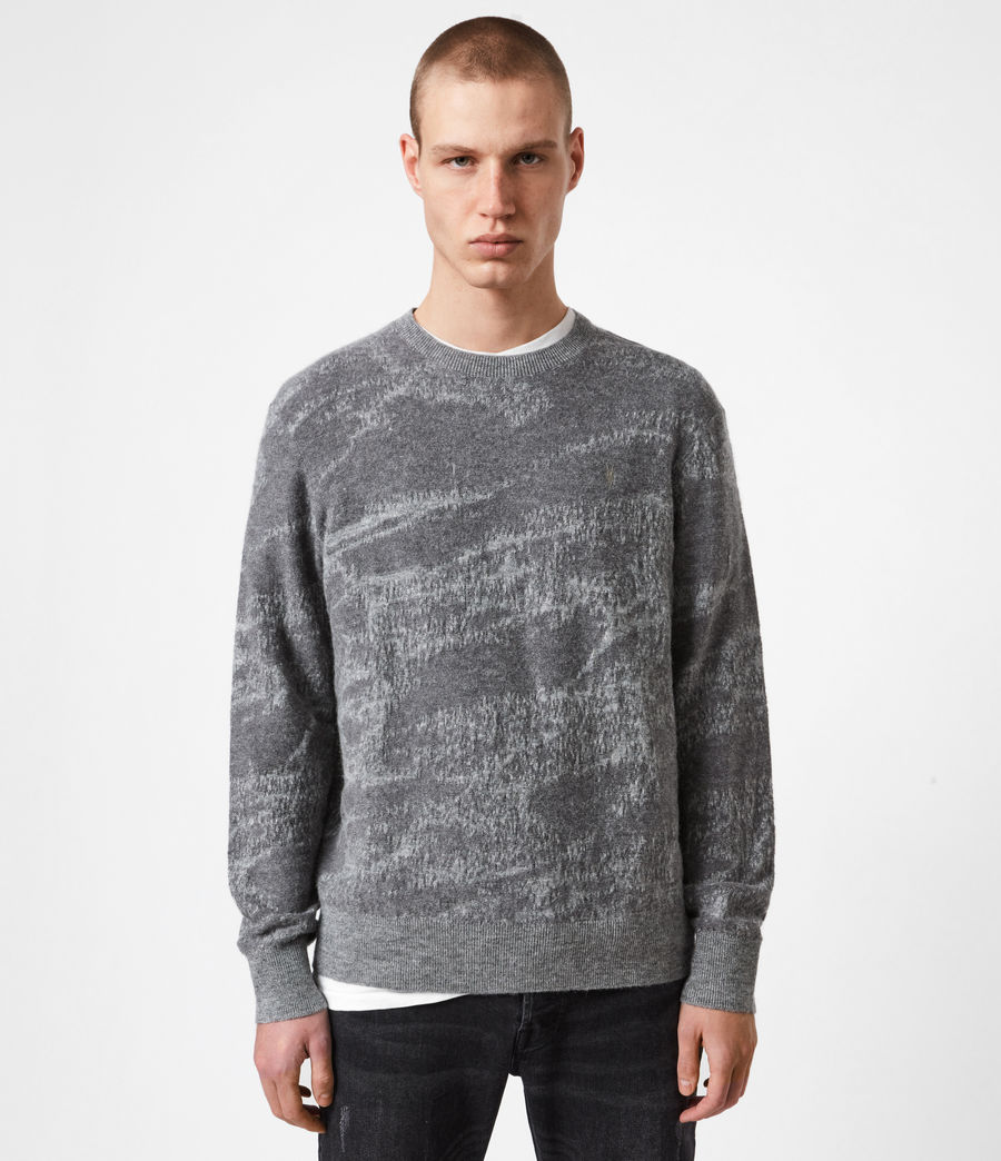 Mens Enzo Crew Sweater (grey_marl) - Image 1